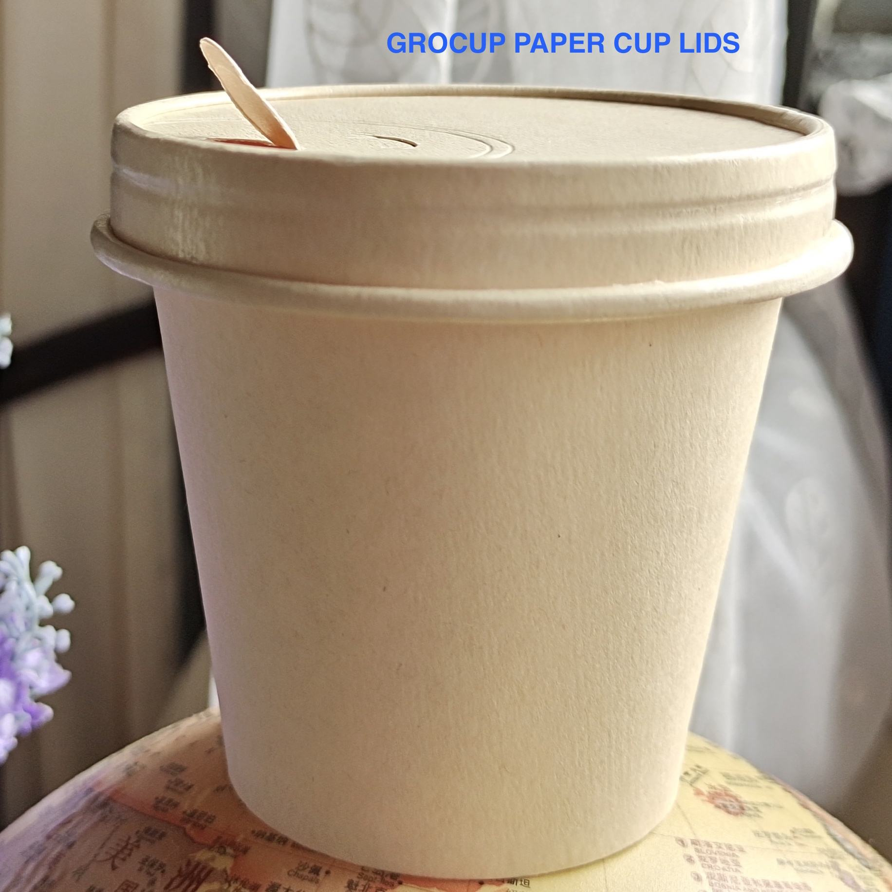 Varnishing [ Paper Cup Coffee ] PAPER CUP FACTORY SPECIALIZE IN PAPER LIDS NEW REVOLUTION FOR COFFEE CUP AND COLD CUP 100% NATURAL PAPER DEGRADABLE COMPOSTABLE