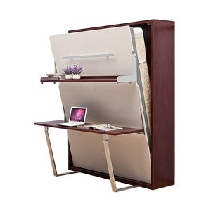 Queen size murphy wall bed removable Murphy bed with study table