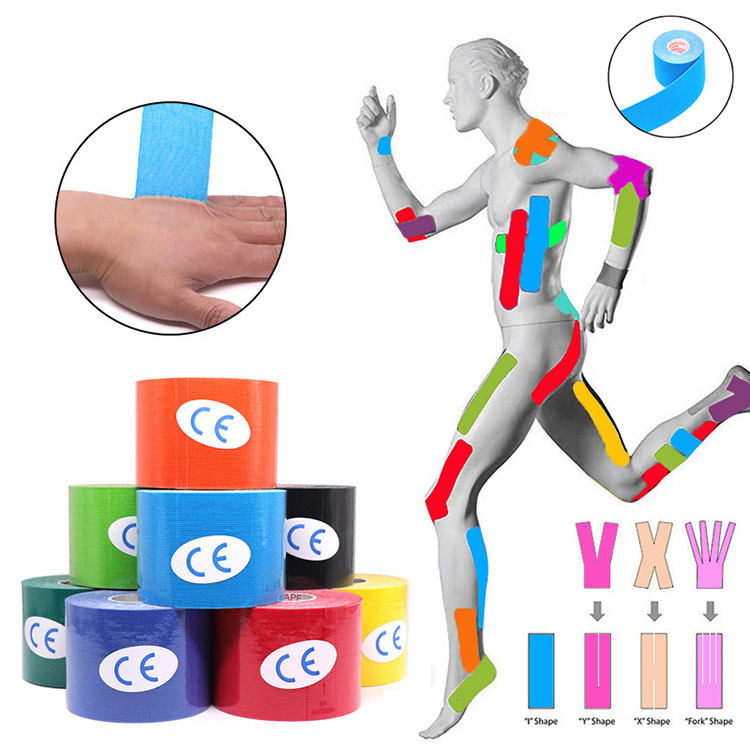 customized logo fitness tape medical compression sports kinesiology tape