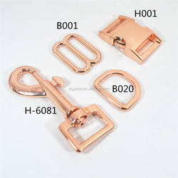 5/8 rose gold metal side release buckle for handbags, bracel