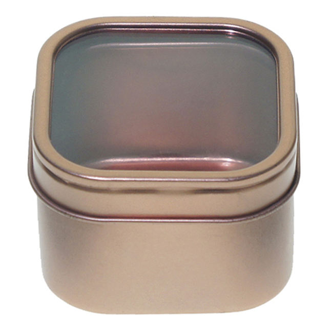 Tin can manufacturer square metal jewelry tin can for packing with window