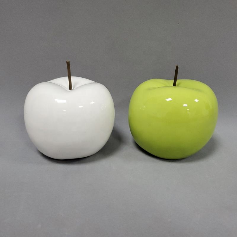 Green fancy ceramic decor decorative apples for home accessories