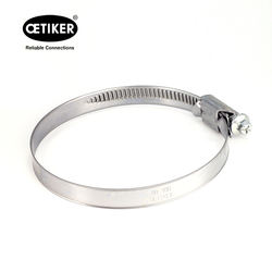 China Supplier 304 Stainless Steel Worm Drive Hose Clamps