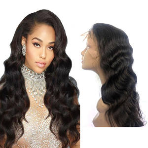 Wholesale 100% unprocessed Brazilian body wave lace front wigs, cuticle aligned natural human hair short wigs vendors