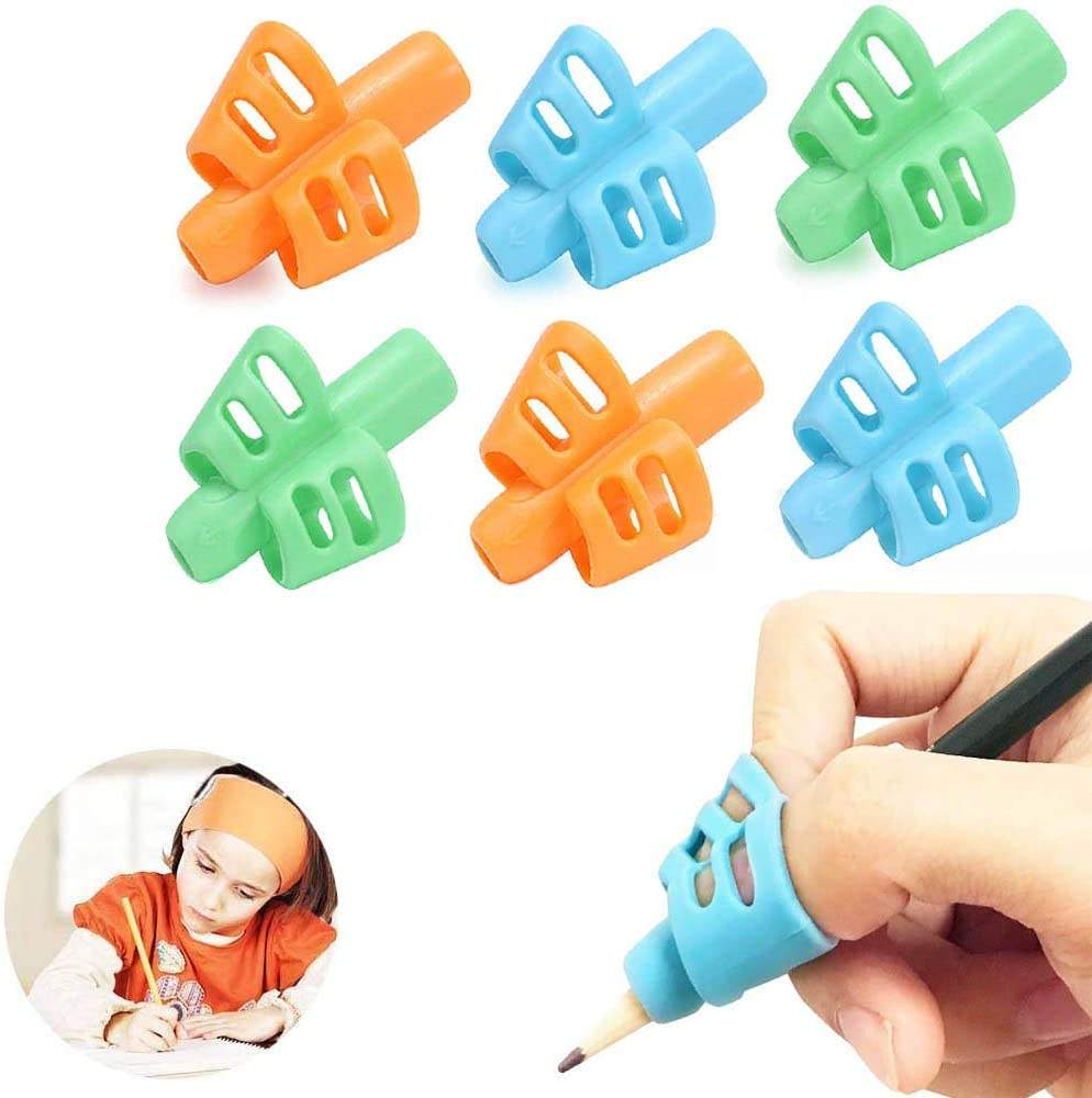Pencil Writing Aid Grip Set Children Pen Grips Three Fingers Fixed Pencil Correction Grips for Kids Handwriting