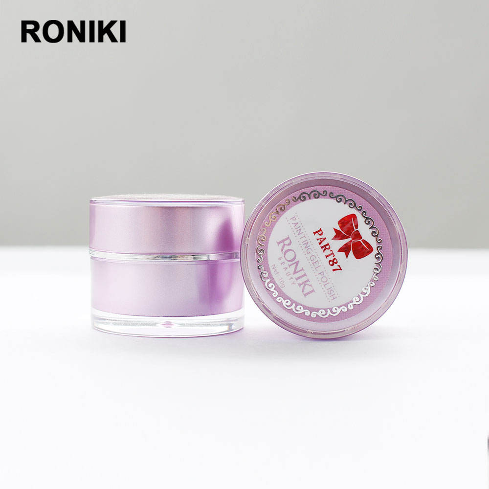 RONIKI free samples beauty products private label art color uv gel nail painting