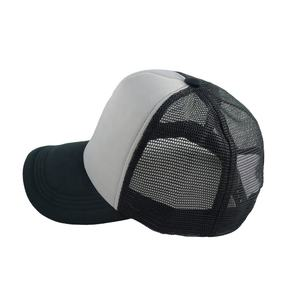 Custom high quality blank snapback baseball sports trucker foam mesh cap hat