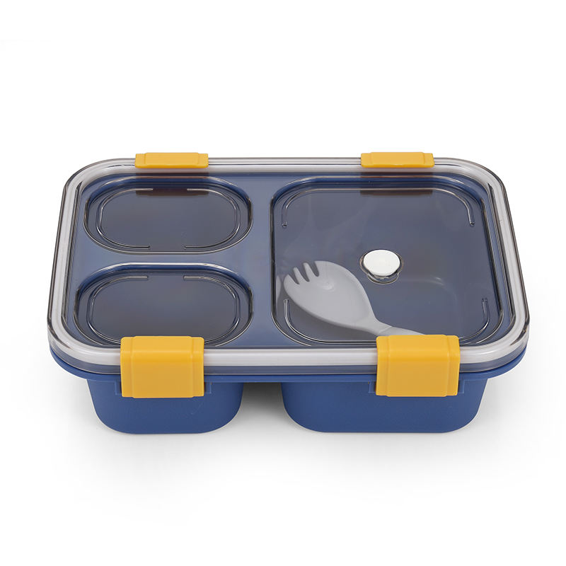 Double Layer PP Plastic lunch box food container with Ice Pack for Lunch