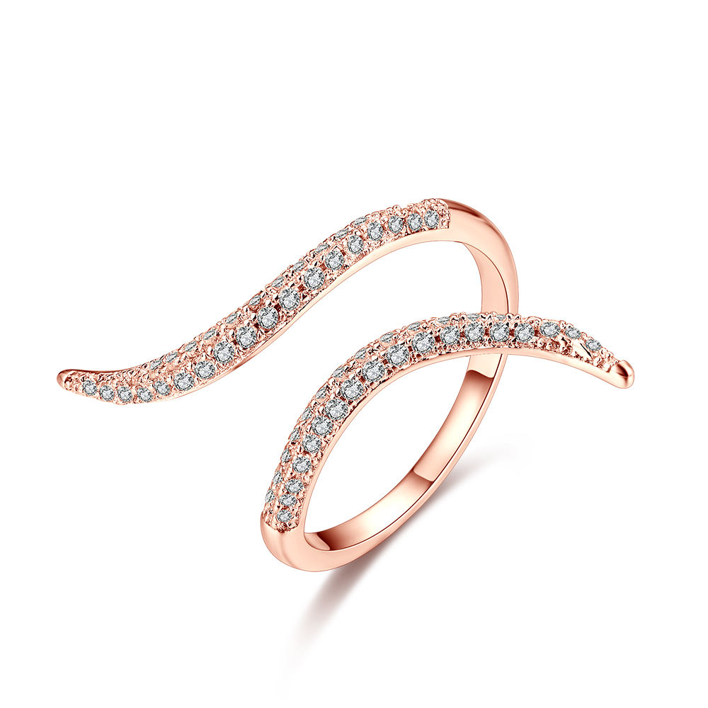 Peshang 925 Sterling Silver Jewelry Adjustable gold/ rose gold /Rhodium Plating Snake Open Ring