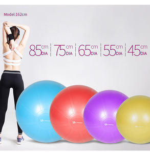 Custom logo colorful anti brush exercise yoga ball gym pilates ball gym exercise ball