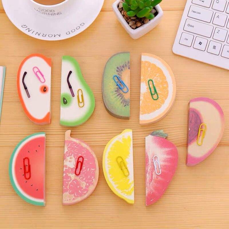 2019 New Design 3D Apple Fruit Shaped Sticky Funny Note Memo Sticky Note pad