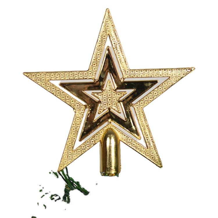 Merry Christmas Tree Top Sparkle Stars Hang Xmas Decoration Treetop Topper supplies Christmas tree Decor