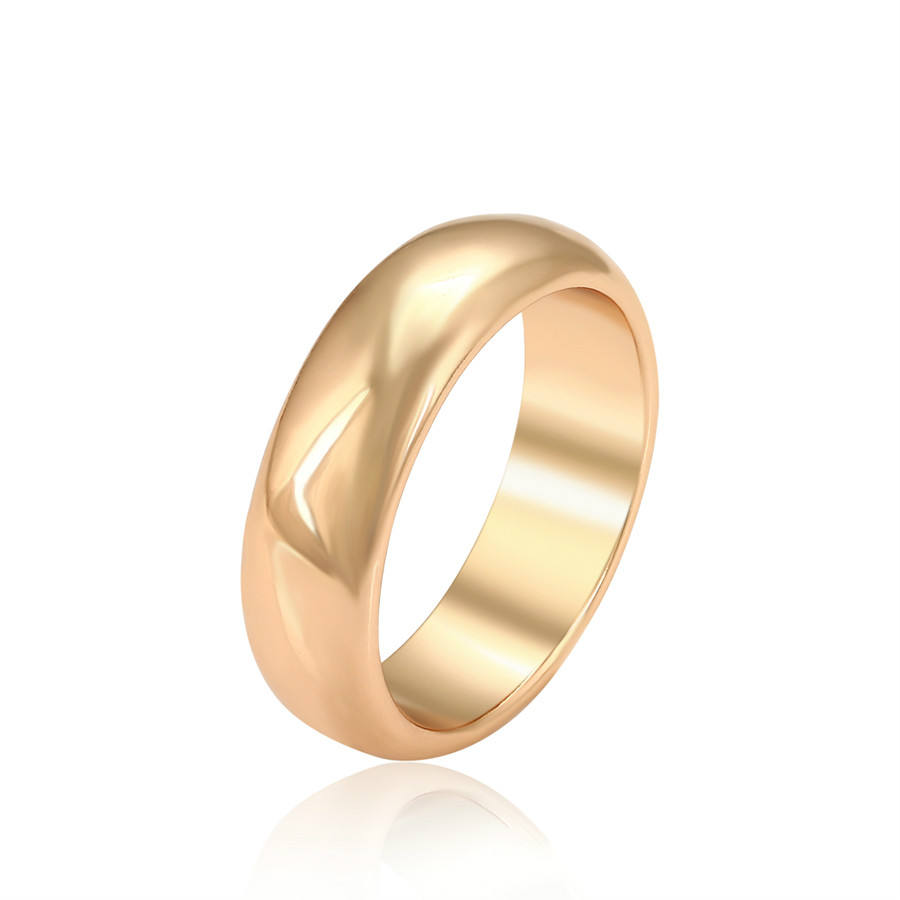 A00674952 Xuping Jewelry elegant simple fashion 18K gold ring for men and women common ring daily wear high quality ring