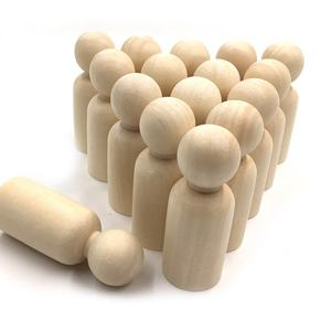 Wooden Peg Doll People Unfinished Doll Crafts