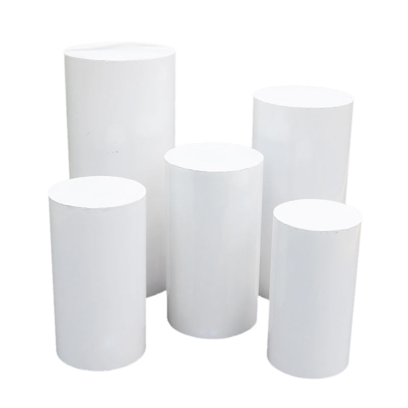 wholesale Party Wedding Decor Backdrops Dessert Display Table Cake Plinth Pillar Acrylic Metal Wedding Pedestal Cylinder Column