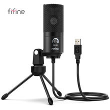 Fifine Studio Gaming Podcast Microphone for Streaming Singing USB Professional Condenser mic for Tablet Recording  Microphone