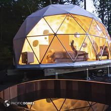 outdoor family pvc geodesic dome house tent
