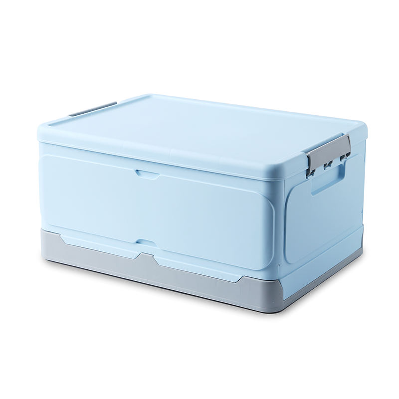 Durable Collapsible Box Plastic Stackable Foldable Storage Box With Lid Folding Storage Bins