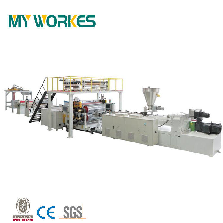 China Cheap PP Hollow Plastic Sheet Production Extruders Line Machines