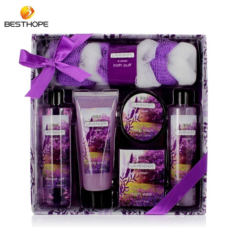 ODM OEM natural romantic elegance woman paper box aromatic bath gift set