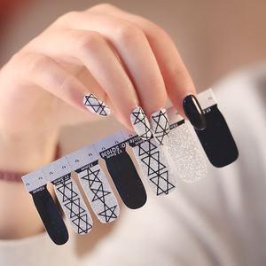 Hot sale fashional Shanghai Huizi factory nail art nail stickers & wraps