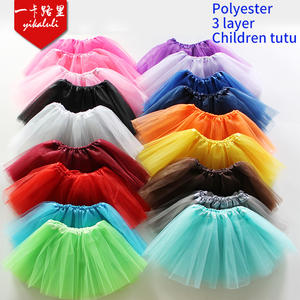 Baby Kids Children Girls Dance Ballet Skirt, 3Layers Party Tulle Tutu Pettiskirt