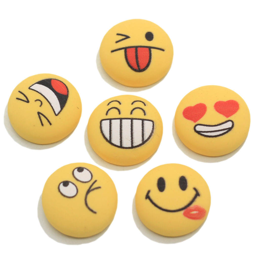 Super Cute Yellow Smiley Face Cabochons Cabochons Round Cabs Craft Embellishments