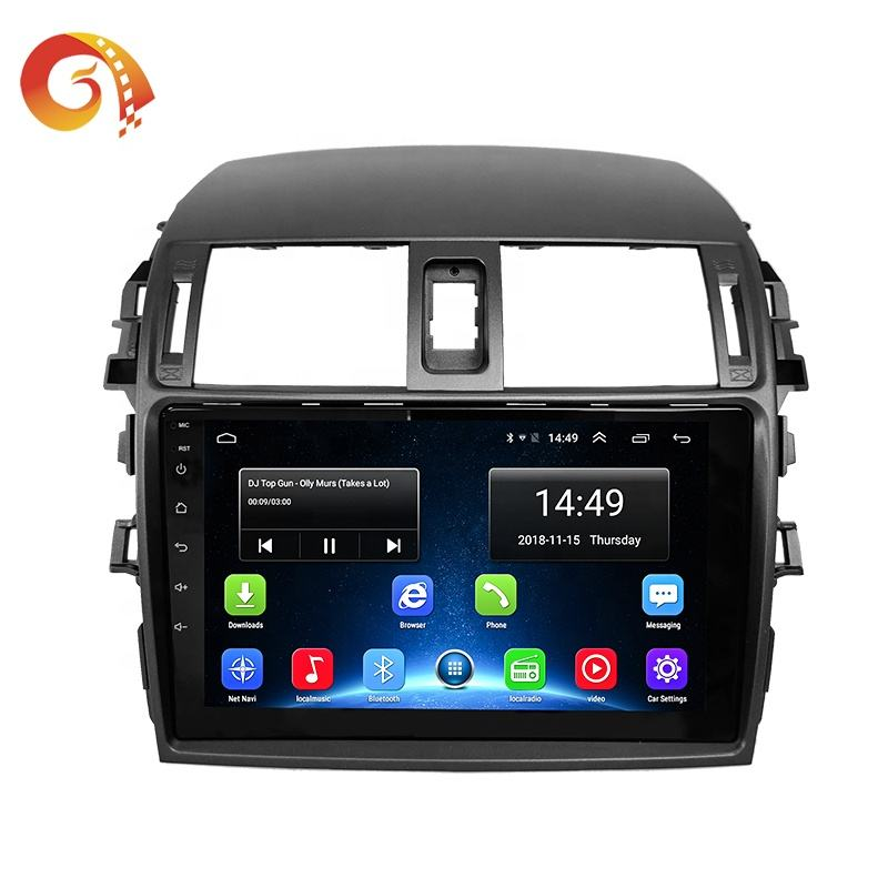 Touch Screen Car Stereo Radio Audio Video Multimedia Sistema di Navigazione Gps Android 8.1 Lettore Dvd Dell'automobile Per Toyota Corolla 2009