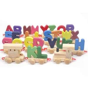 26 lettres anglaises petit train jouet en bois Achat