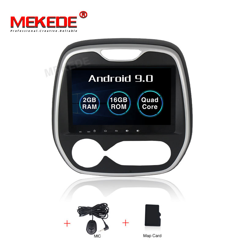 MEKEDE 2 + 16G PX3 Android 9.0 quad core android auto dvd-speler Voor Renault Captur clio samsung 2011 MQ3 GPS WIFI BT video radio
