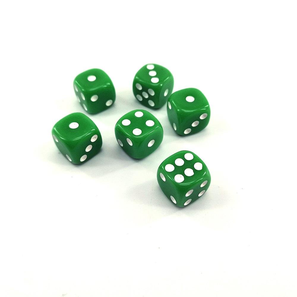 Custom 12mm Standard 6 Sided Plastic Board Game Dice Pieces Set For Ludo Game