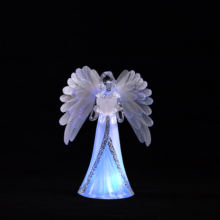 Color Changing Christmas Angel Feather Wings Crafts Angel Figure Arts Decoration