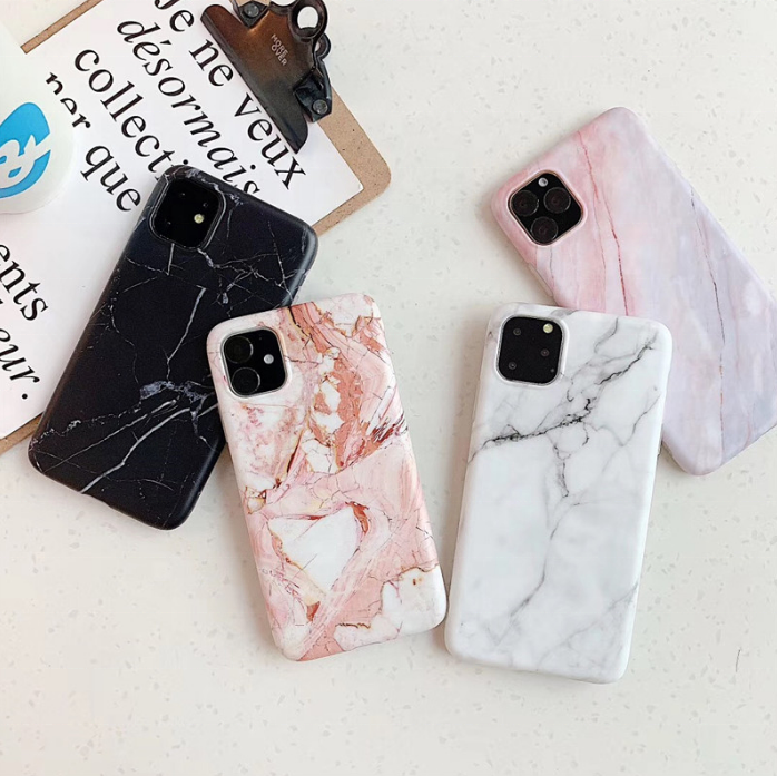 Luxury TPU Marble Phone Case For IPhone 11 Custom IMD marble Mobile Cover for iphone 12