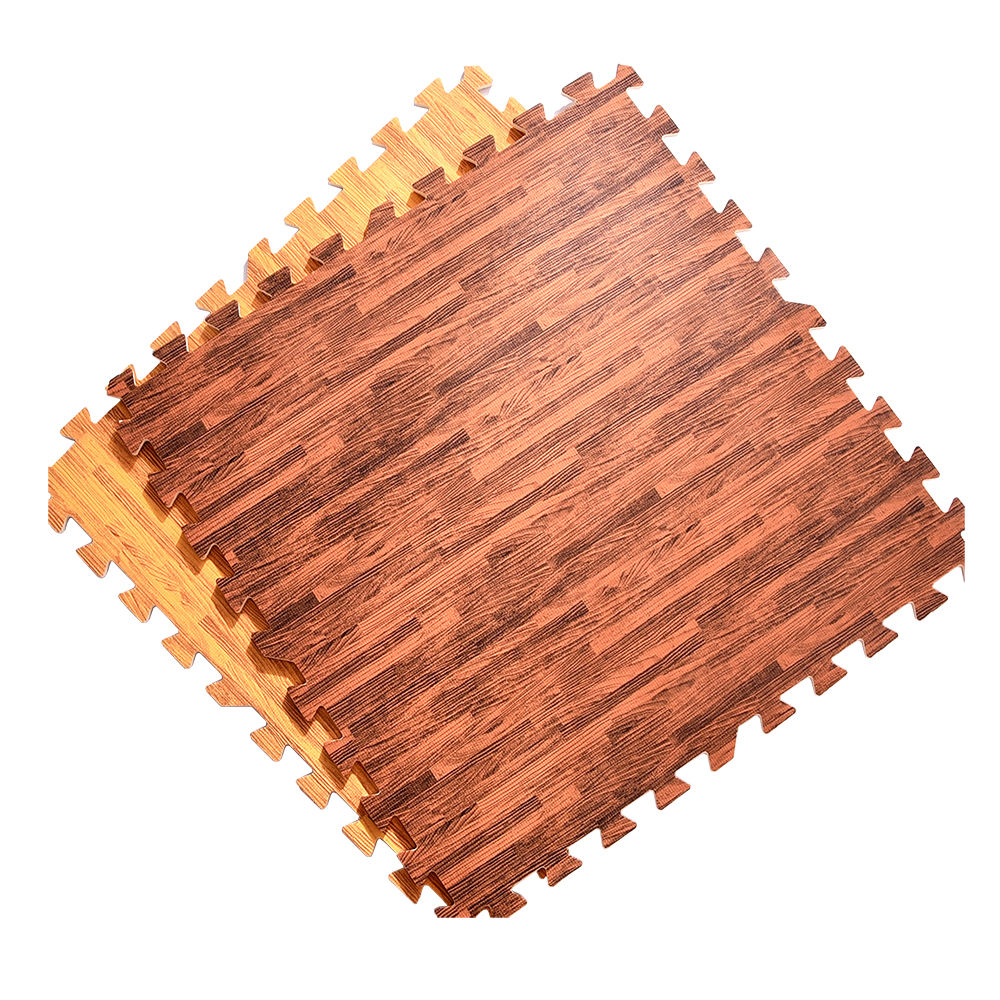 Wholesale Interlocking EVA Foam Wood Look Puzzle Floor Mats