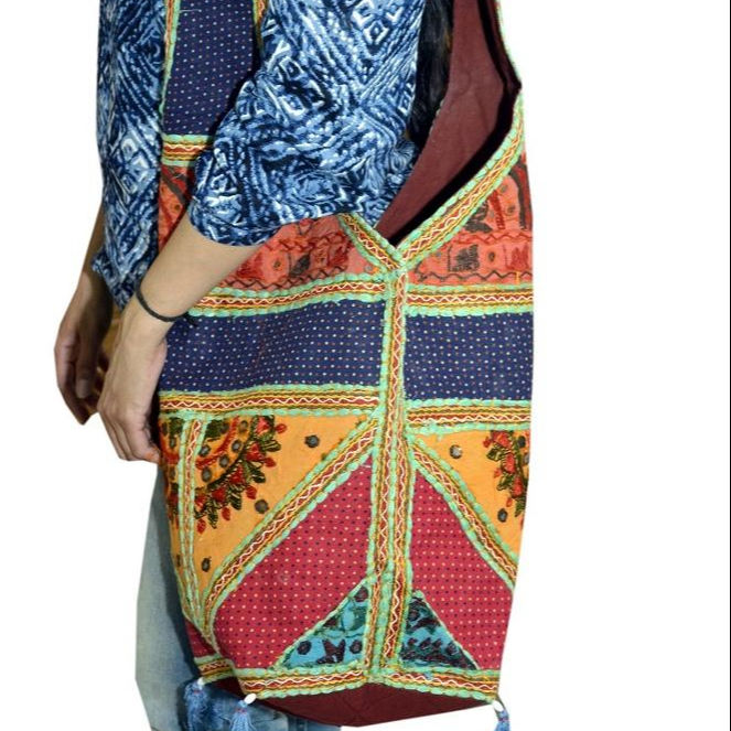 Indian Vintage Patchwork handmade Blue Sling Cross Body Cotton Shoulder bags Hippie Boho Banjara Bag
