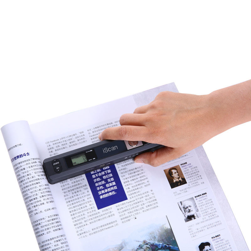 Portable Scanner Photo Numérique Scanner 900DPI Handyscan Sans Fil A4 Prise USB Scanner Stylo JPEG/PDF A4 Document iscan