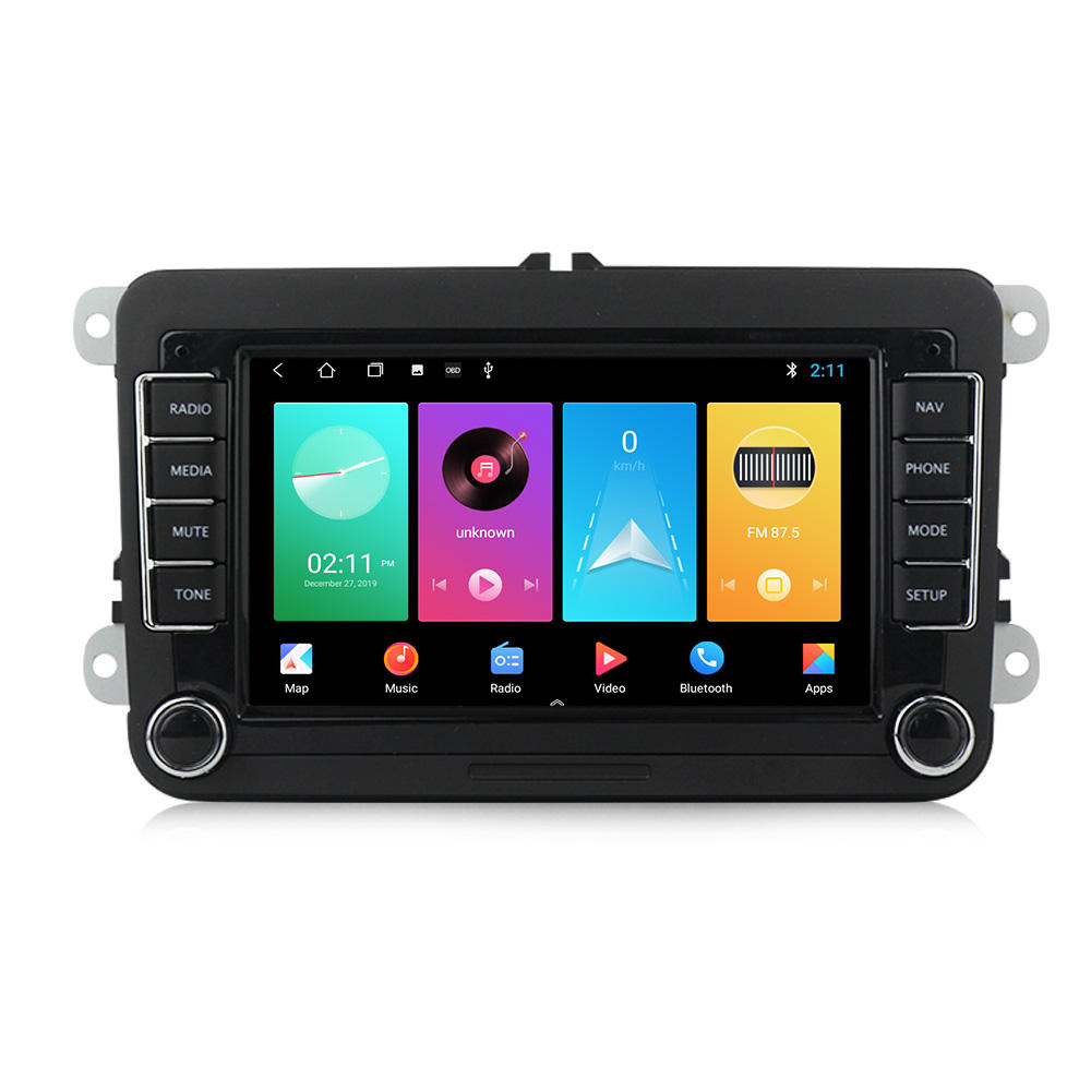 MEKEDE Android 9 4core android auto dvd player Für <span class=keywords><strong>VW</strong></span>/POLO/PASSAT B6/Golf/TOURAN/SHARAN 2 + 32GB WIFI GPS BT Radio