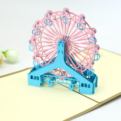 Felice Ferris Wheel Nuovo Anno Formati Standard <span class=keywords><strong>di</strong></span> Carta Carving Hollow 3D <span class=keywords><strong>Biglietto</strong></span> <span class=keywords><strong>di</strong></span> <span class=keywords><strong>Auguri</strong></span> <span class=keywords><strong>Biglietto</strong></span> <span class=keywords><strong>di</strong></span> Carta da <span class=keywords><strong>Stampa</strong></span>