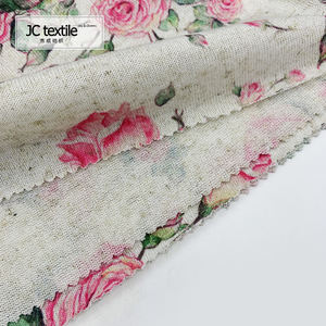Factory price soft knitted beautiful flower net digital printed fabric