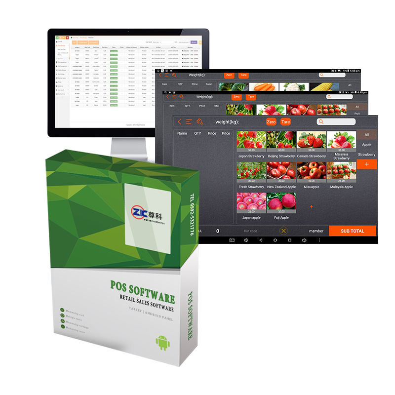 Zunke point of sale software support staff/store/inventory/product management android pos software for retail