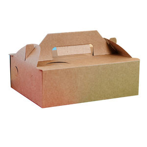 Disposable kraft paper lunch box fast food take away package rectangular salad sushi lunch box carton