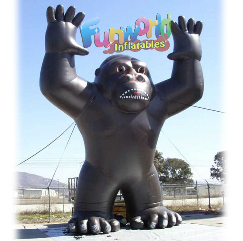 Attractive giant advertising animal anime inflatable gorillas