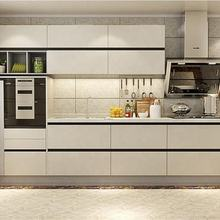 foshan factory price super white kitchen cabinets solid wood
