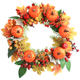 Halloween wreath harvest decoration Wreath Christmas Wreath wall hanging new factory direct sale Halloween party supplies
