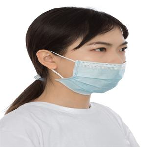 Manufactory Face Mask Disposable 3 Blue Color Ear Loop Material 99 meltblown high quality