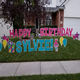 Happy Birthday Letters Yard Sign with Stakes