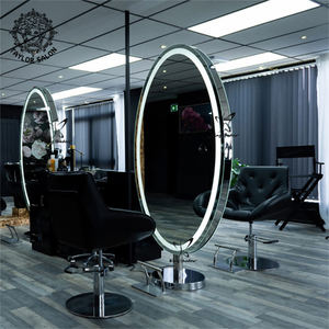 Hot sale hair salon furniture double sided styling mirrors barber station mirror hairdressing mirror table