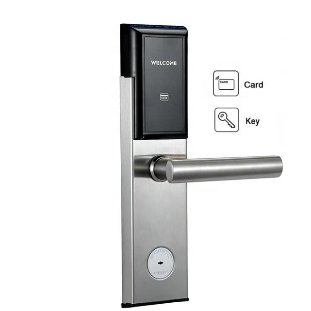 Stainless Steel Electronic Smart RFID Hotel Door Lock System with Free Software