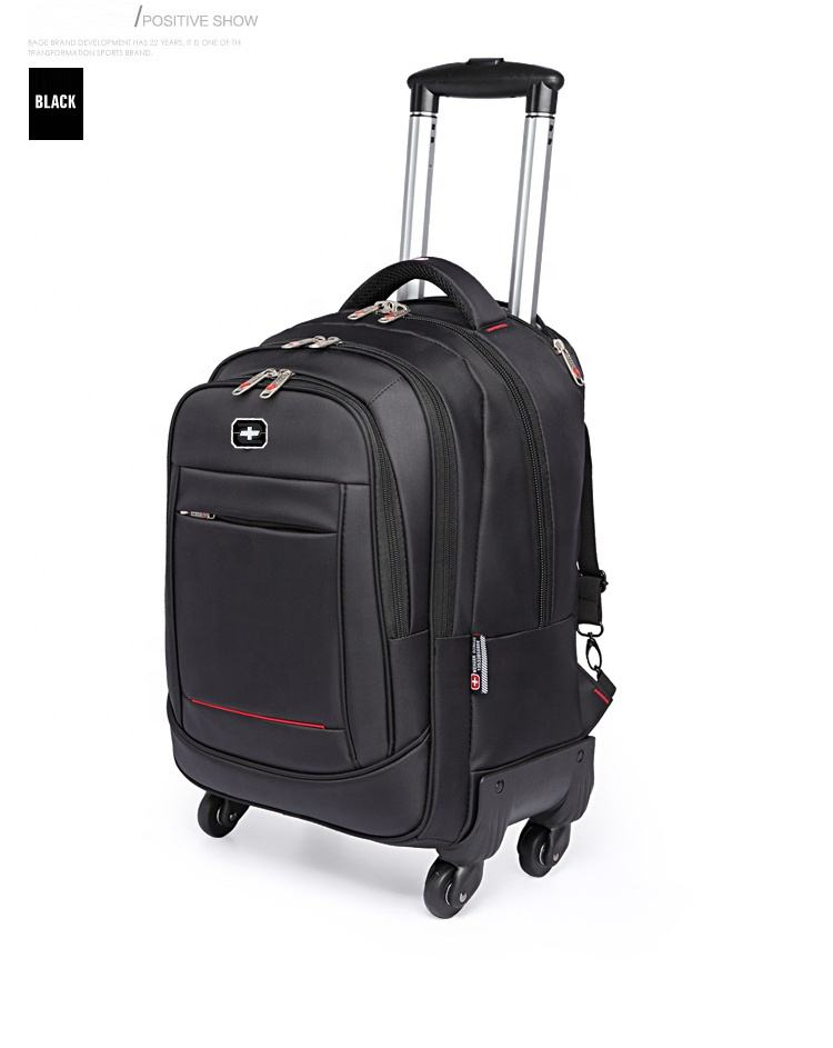 Multi use executive travel 15.6 inch laptop back pack trolley bag rolling wheeled Travel trolley Bags