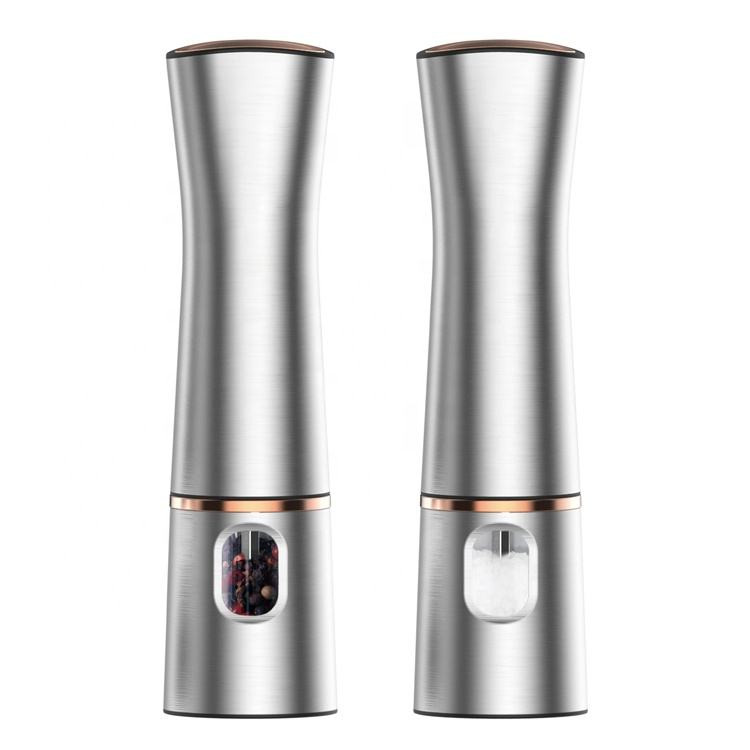 2021 New Design Electric Battery Operated Ceramic SaltとPepper Grinder Stainless Steel Electric Mills